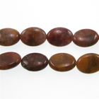 Agua Nueva 10 x 14mm flat oval earthy golds, browns and reds