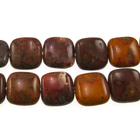 Agua Nueva 12mm square earthy golds, browns and reds