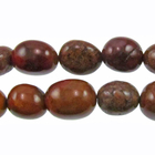 Agua Nueva 12 x 16mm tumbled nugget earthy golds, browns and reds