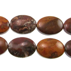 Agua Nueva 13 x 18mm flat oval earthy golds, browns and reds