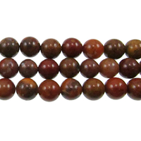 Image Agua Nueva 8mm round earthy golds, browns and reds