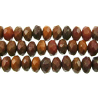 Image Agua Nueva 8mm faceted rondell earthy golds, browns and reds
