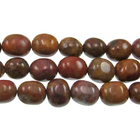 Agua Nueva 8 x 10mm tumbled nugget earthy golds, browns and reds