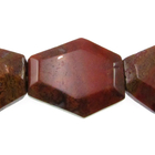 Agua Nueva 25 x 30mm faceted hexagon earthy golds, browns and reds
