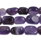 Amethyst 8 x 12mm tumbled nugget dark purple