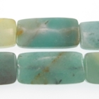 Amazonite 15 x 30mm rectangle light blue green