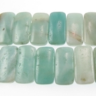 Amazonite 10 x 20mm double drill rectangle light blue green
