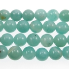 Amazonite 8mm round light blue green