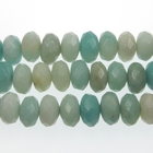 Amazonite 8mm rondell light blue green