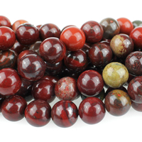 Apple Jasper 8mm round rich red with yellow
