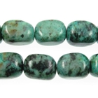 African Turquoise 12 x 16mm nugget blue green with spots