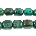 African Turquoise 8 x 10mm nugget blue green with spots