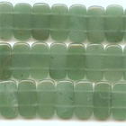 Aventurine 10 x 20mm double drill rectangle green