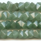 Aventurine 7 x 12mm faceted nugget green