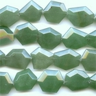 Aventurine 25 x 30mm hexagon green