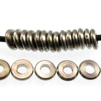 Image Metal Beads 6.5mm disc base metal silver finish