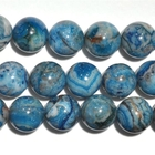 Crazy Lace Agate 10mm round bright blue