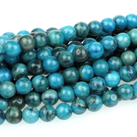 Crazy Lace Agate 6mm round bright blue