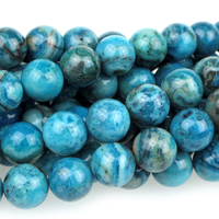 Crazy Lace Agate 8mm round bright blue