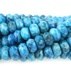 Crazy Lace Agate 8mm rondell bright blue