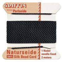 Image size #8 black Griffin Silk
