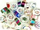Furnace Glass Beads assorted colors slices assorted sizes
