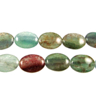 Blue Green Quartz 10 x 14mm oval blue & green