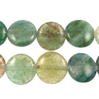Blue Green Quartz 12mm coin blue & green