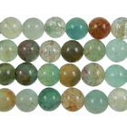 Blue Green Quartz 6mm round blue & green