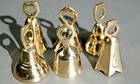 Bells 2 inch tall brass bells, assorted shapes