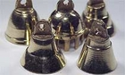 Bells 1 inch tall brass bells, assorted shapes