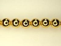 Image Metal Beads 4mm round base metal gold