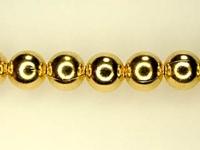 Image Metal Beads 5mm round base metal gold