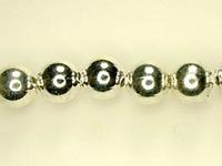 Image Metal Beads 5mm round base metal silver