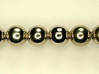 Metal Beads 6mm round base metal nickel