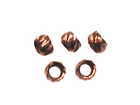 base metal 2mm crimp bead antique copper