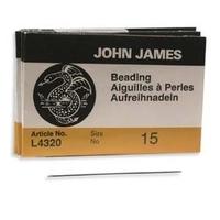 Image size 15 regular Beading Needles
