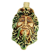 Image Green Man Clay Bottles 62 x 39mm natural and green