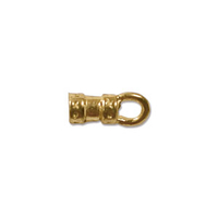 base metal 3 x 9mm decorative cord end gold
