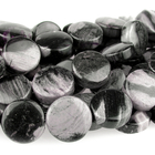 Black Silver Leaf Jasper 12mm coin mixed colors