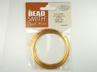 Image German Craft Wire 26 gauge round gold