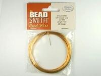 Image German Craft Wire 22 gauge round gold