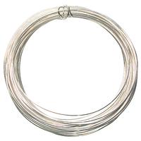 Image German Craft Wire 22 gauge  round silver