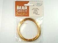 Image German Craft Wire 20 gauge round gold