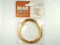 Image German Craft Wire 18 gauge round gold