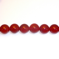 Carnelian Agate 4mm round deep orange