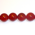 Carnelian Agate 6mm round deep orange