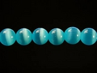 Fiber Optic Beads 4mm round turquoise