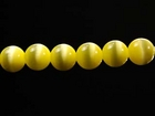 Fiber Optic Beads 4mm round yellow