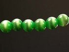 Fiber Optic Beads 4mm round kelly green